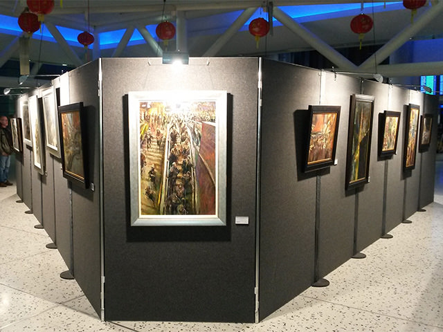 Art Exhibition Stand Hire : Shell scheme hire poster board exhibition panel