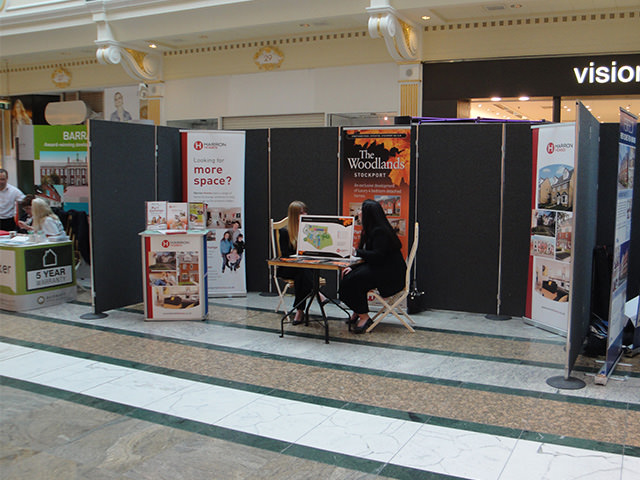 Stand Hire For Exhibition : Shell scheme hire poster board exhibition panel