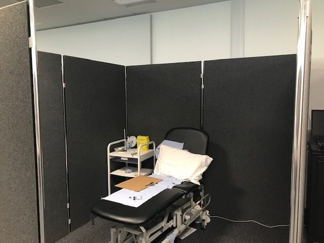 Temporary intensive care partition screening hire