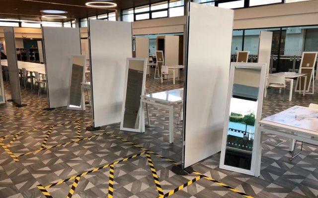 Covid-19 testing services partition screen hire